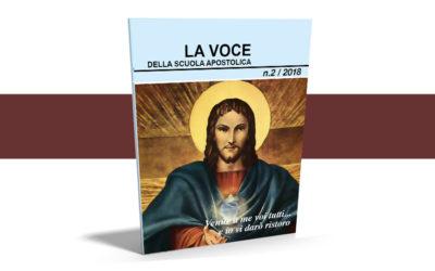 La Voce della Scuola Apostolica – 2/2018